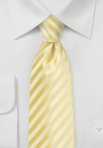 Summer Tie in Daffodil Yellow in XL Length