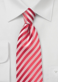 Solid Striped Tie in Coral Color