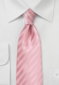Elegant Summer Tie for Kids in Peony Pink