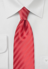 Summer Striped Tie in Raspberry