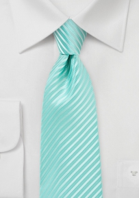 XL Length Spearmint Colored Necktie