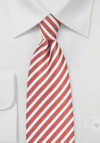 Summer Striped Necktie in Spice Orange