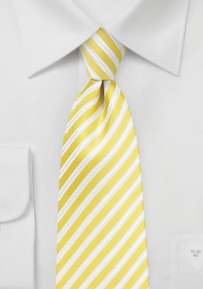 Summer Striped Necktie in Blazing Yellow