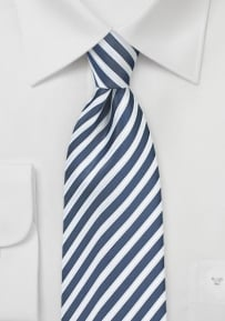 Summer Striped Necktie in Indigo