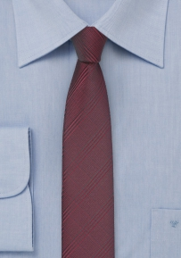 Ruby Wine Red Skinny Tie