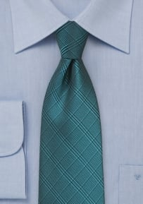 Summer Plaid Tie in Pacific Blue