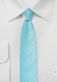 Super Skinny Tie in Pool Blue
