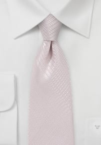 Trendy Plaid Tie in Blush Pink