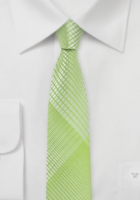 Daiquiri Skinny Tie with Monochromatic Plaid