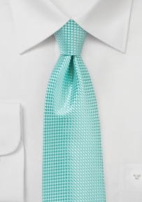 Beach Glass Color Necktie with Texture