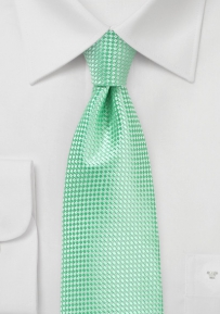 Textured Weave Tie in Paradise Green