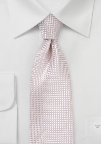 Textured Weave  XL Mens Tie in Blush