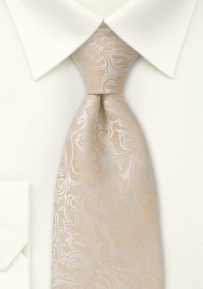 Champagne Wedding Tie in XL