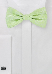 Paisley Bow Tie in Pistacchio Green