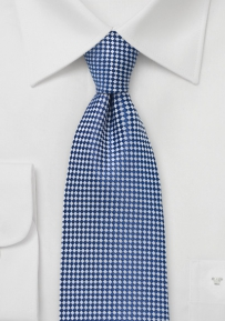 Extra Long Patterned Tie in Pacific Blue