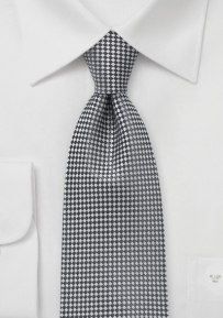 Small Squared Tie in Graphite for Tall Men