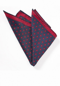 Bold Polka Dot Hanky in Navy and Red