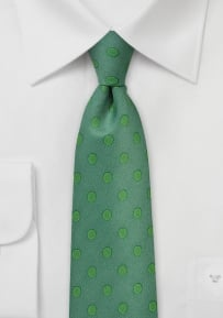 Ivy Green Tie with Kelly Green Polka Dots