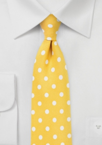 Lemon Yellow Polka Dot Necktie