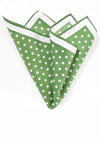 Large Polka Dot Hanky in Grass Green