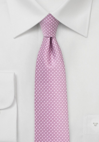 Skinny Pin Dot Tie in Orchid