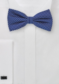 Royal Blue Pin Dot Bow Tie