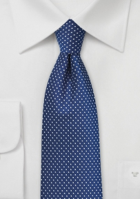 Skinny Pin Dot Tie in Royal