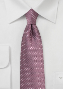 Slim Cut Pin Dot Tie in Renaissance