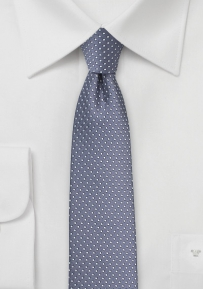 Narrow Pin Dot Tie in Wisteria