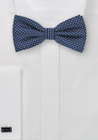 Elegant Pin Dot Bow tie in Navy