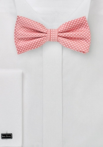 Pin Dot Bow Tie in Tulip