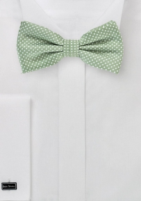Mens Micro Dot Bow Tie in Sage