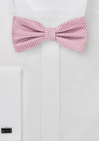 Micro Dot Bow Tie in Dusty Rose
