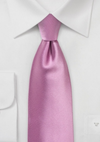 Solid Color Tie in Orchid