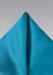 Solid Color Pocket Square in Peacock