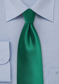 Solid Color XL Length Tie in Hunter