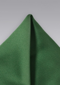 Solid Satin Pocket Square in Hunter