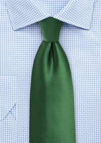 Solid Color Tie in Artichoke