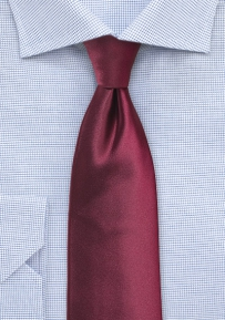 Solid Color Tie in Wine for Boys