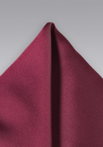 Solid Color Pocket Square in Wine