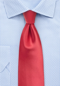 Coral Red Mens Tie in XL