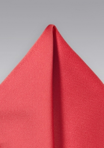 Pocket Square in Coral