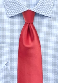 Solid Color Tie in Coral