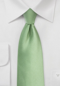 Solid Color Tie in Sage in Long Length