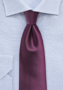 Mens Plum Color Tie in XL