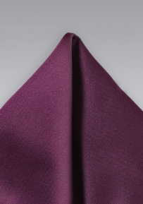 Mens Pocket Square in Plum