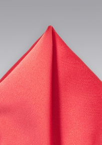 Neon Coral Pocket Square
