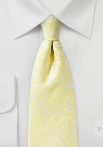Paisley Tie in Canary Yellow