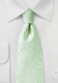 Paisley Tie in Winter Mint