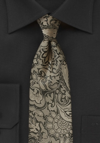 Kids Paisley Tie in Bronze Color